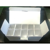 White vial box, 10x10mL treasure chest case, Pack of 5