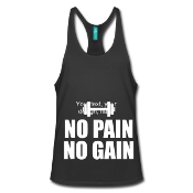 Tank Top Black. No Pain, No Gain