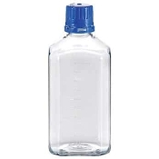 Cole-Parmer Sterile PETG Square Media Bottle, 1000 mL, 12/box